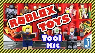 😁Roblox Toys Unboxing - Tool Kit with Red LAZER Parkour Runner and Giant Hunter - Holds 36 Figures!