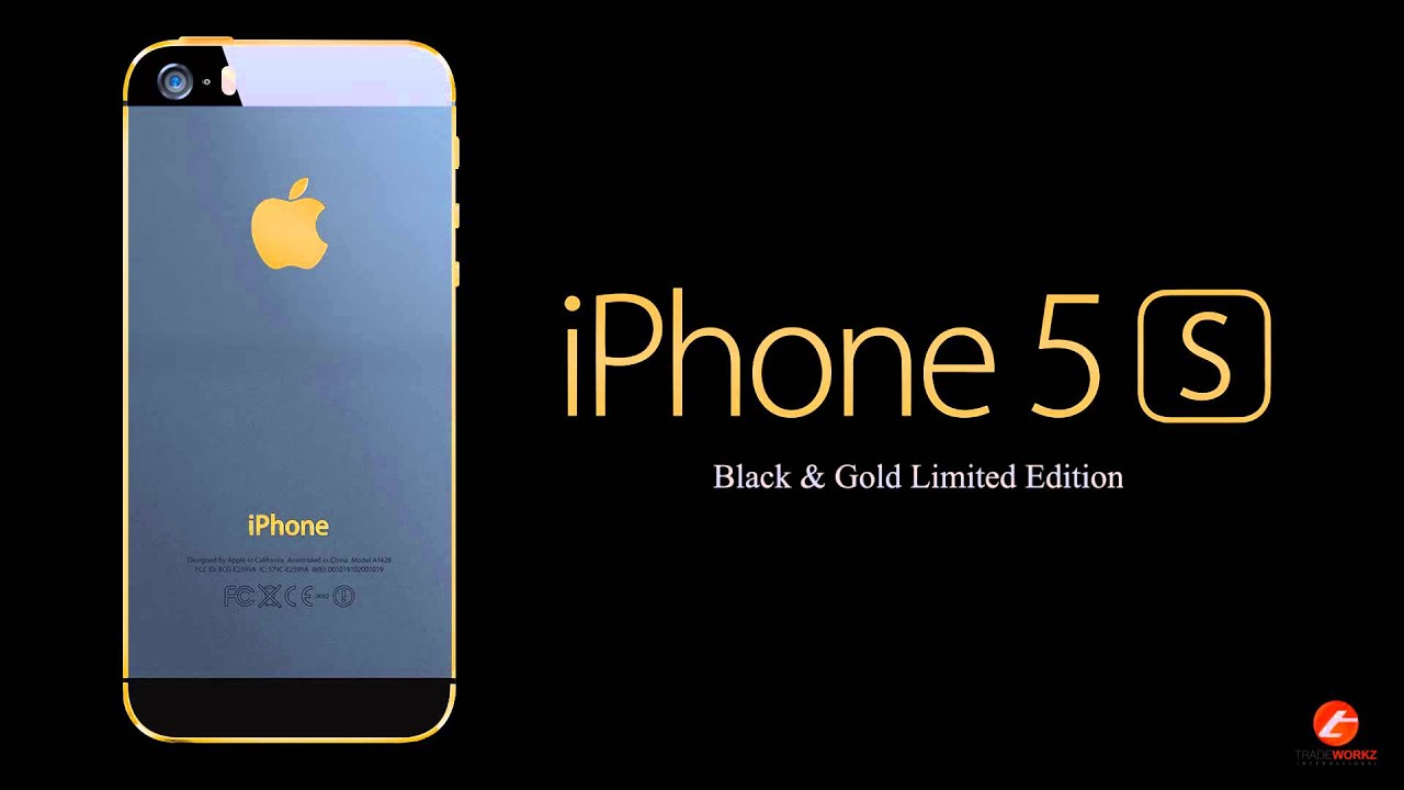 IPhone 5s Black Gold Limited 1