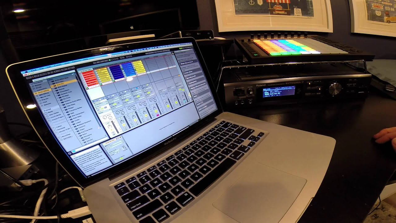 control the roland integra 7 with ableton push youtube. Black Bedroom Furniture Sets. Home Design Ideas