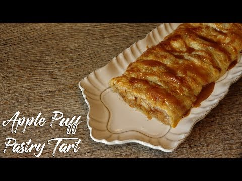 Easy apple pie with ready made puff pastry
