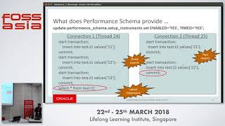 MySQL Performance Schema - A great insight of running MySQL Server - Mayank Prasad - FOSSASIA 2018