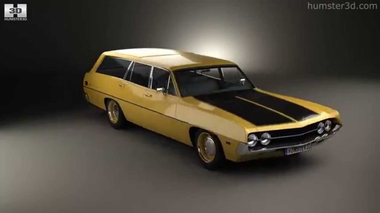 ford torino 500 station wagon 1971 by 3d model store humster3dcom