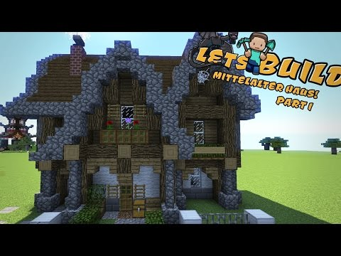 MITTELALTERLICHES HAUS bauen   Minecraft Tutorial