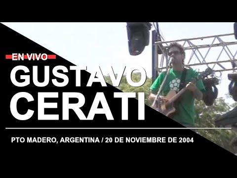 GUSTAVO CERATI en Puerto Madero (20.11.2004) // Prueba de Sonido