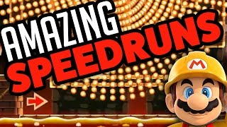 Super Mario Maker - AMAZING SPEEDRUNS! - Level Showcase [Up'N'Atom]