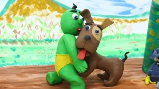 Green Baby: SUPERHERO DOG NEW POWERS - Stop Motion Cartoons For Kids