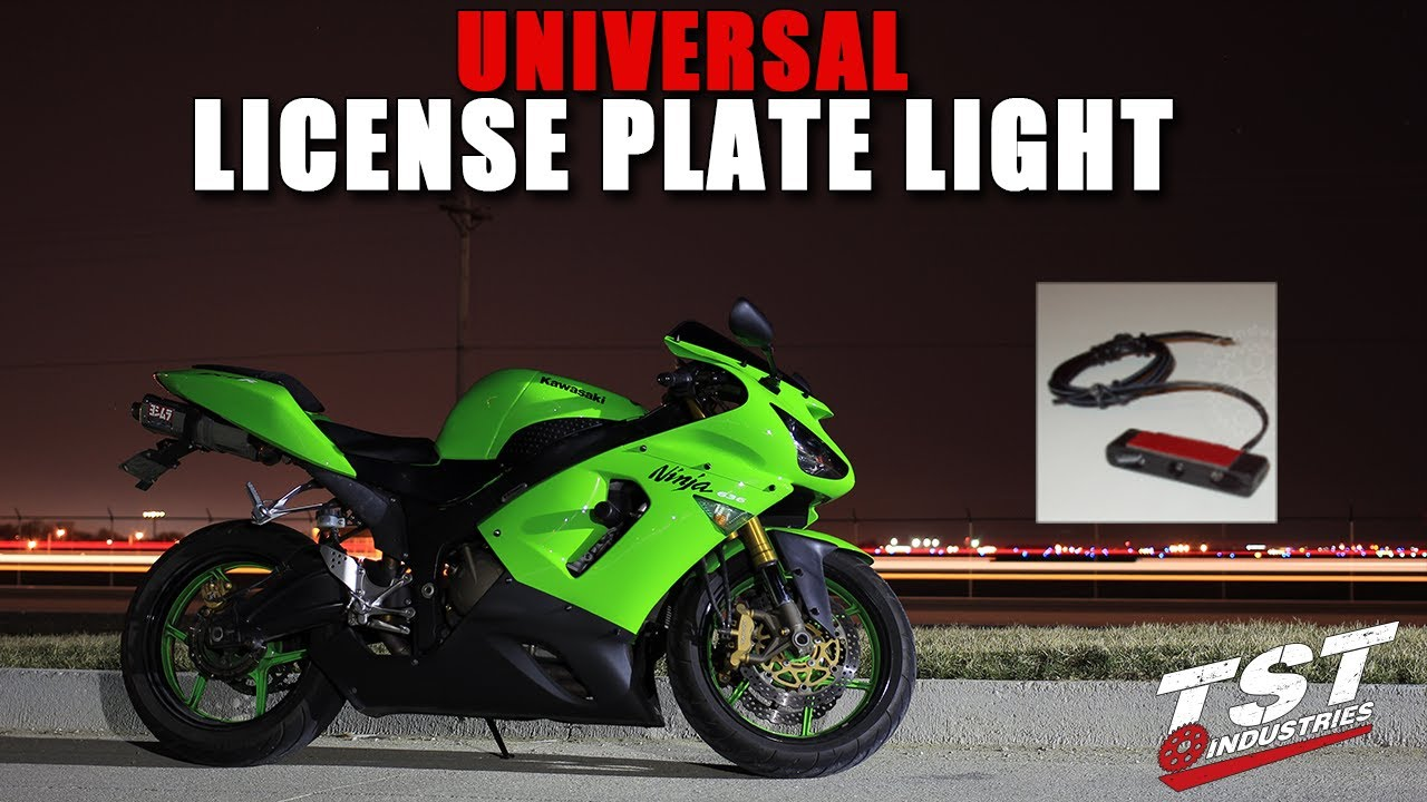 How To Install Motorcycle License Plate Light By Tst Industries 2003 R1 Wiring Diagram