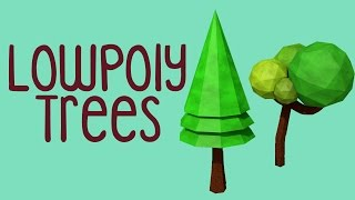 T2: Low Poly Trees - Cinema 4D