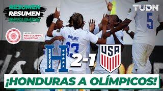Resumen y goles   Honduras 2-1 Estados Unidos   Semifinal - Preolímpico 2021   TUDN