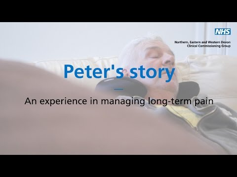 Peter's story  - An experience of managing long-term pain