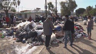 中米からアメリカを目指してメキシコに集まった移民集団のうち数千人の...