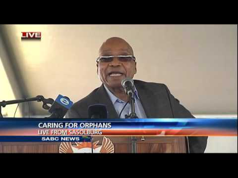 President Zuma at a Christmas party for orphans in Sasolburg