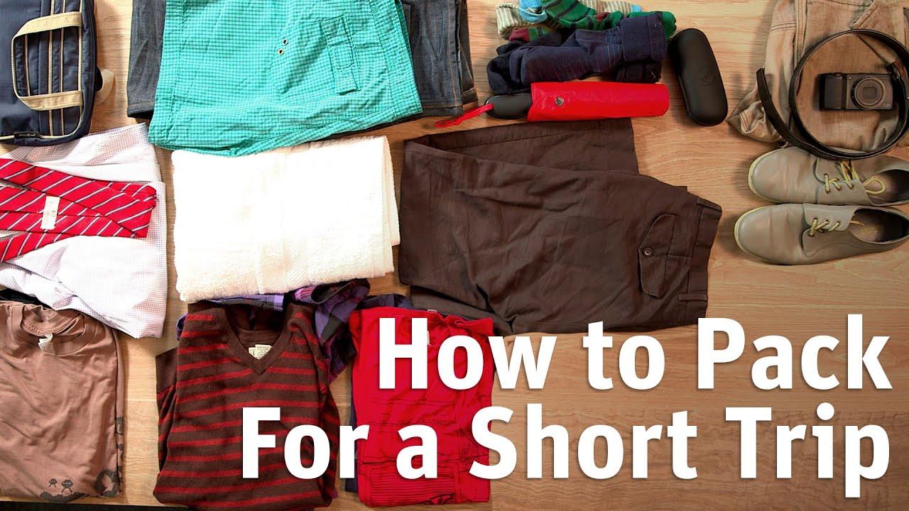 Så packar du smartast inför en kort resa. Ett par snabba