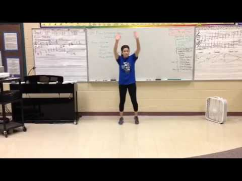 BGHS Choir - Can't Stop the Feeling - Choreography Slow Tempo