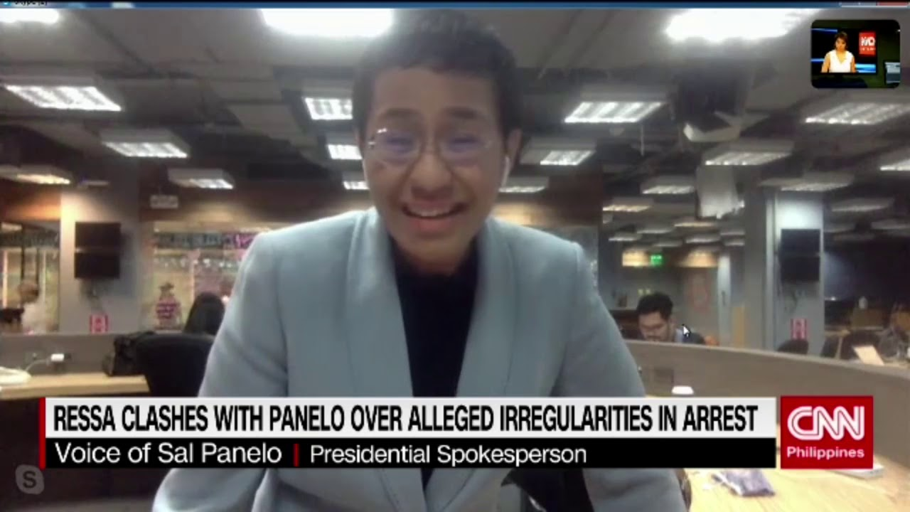 Ressa clashes with Panelo over alleged irregularities in arrest