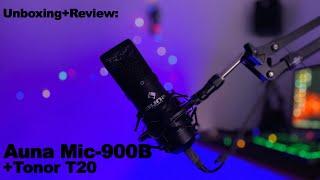 80€ Mikrofon, Perfekt für kleine YouTuber und Streamer? Auna Mic-900B + Tonor T20 Unboxing und Test