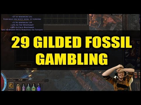 Path of Exile Delve: 29 GILDED FOSSIL GAMBLOR | Stream Highlight