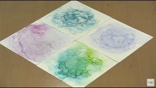 Shimmery Abstract Alcohol Ink Paintings by Joggles.com