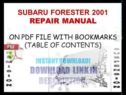 subaru forester 2001 repair manual youtube rh youtube com subaru forester 2001 user manual subaru forester 2001 repair manual