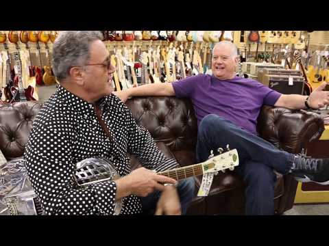 Frank Stallone & Norm catching up at Norman's Rare Guitars  Regal R52 Electric Roundneck