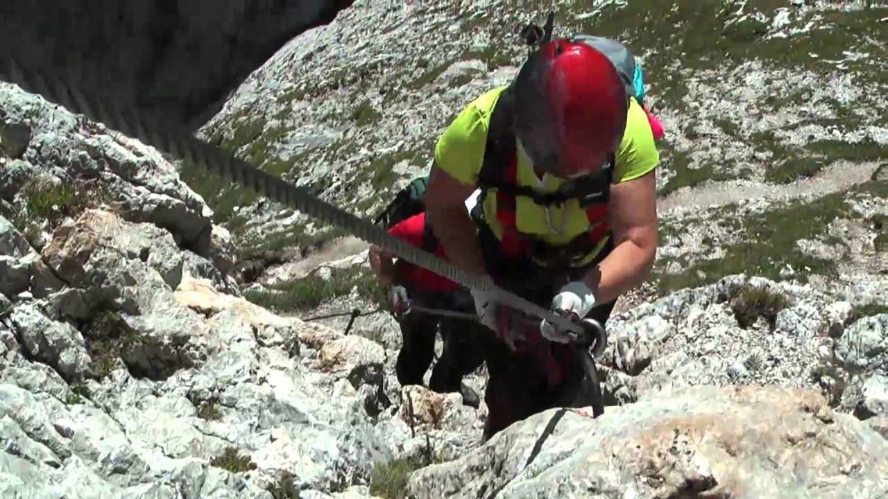 Klettersteig Unfall 2018 : Pisciadu klettersteig via ferrata brigada tridentina youtube