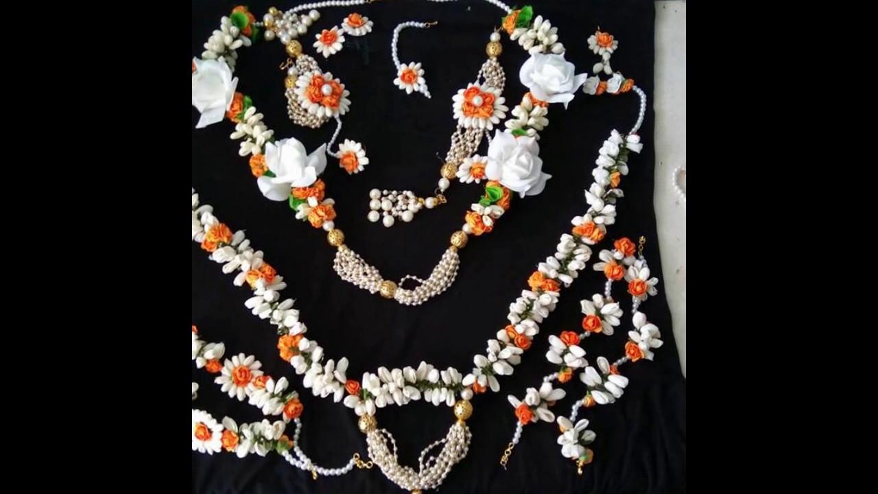 Madurai Decorators Artificial Flower jewellery - YouTube