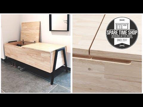 DIY Modern Entryway Bench with Storage