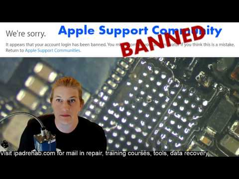 Banned from Apple Support Community--plus botched touch ic job fix
