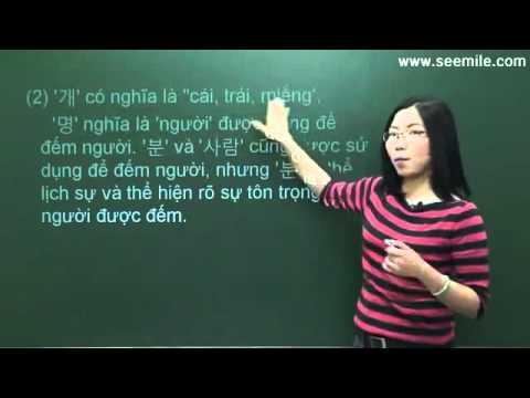 Hoc Hoi Thoai Tieng Han Quoc  - Bai 10 ( Gia Dinh Ban Co May Nguoi ? )