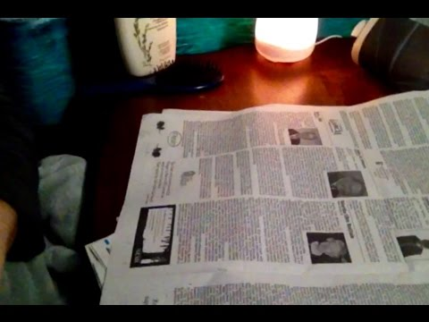 75 Mins Browsing Sunday Newspaper Headlines, Ads, ASMR Whispers, Comments, Questions, Rambling