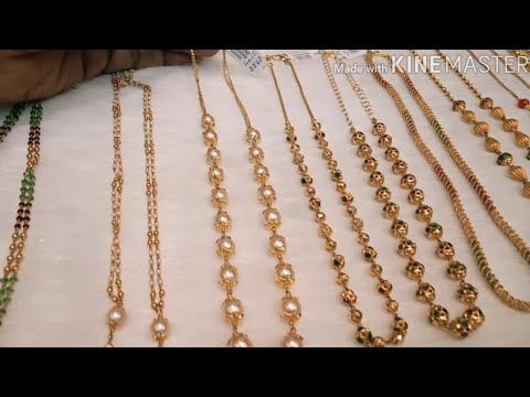 22ct Gold  Lightweight Multicolour Beads Jewellery Collection With Weight U0026adress Detsils//part- 2