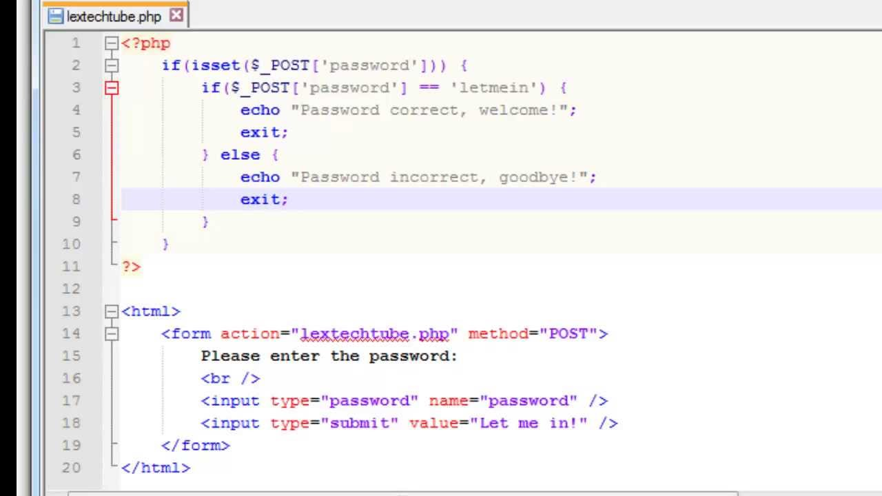 PHP Programming - Ultra Simple Login Script (Password Protection ...