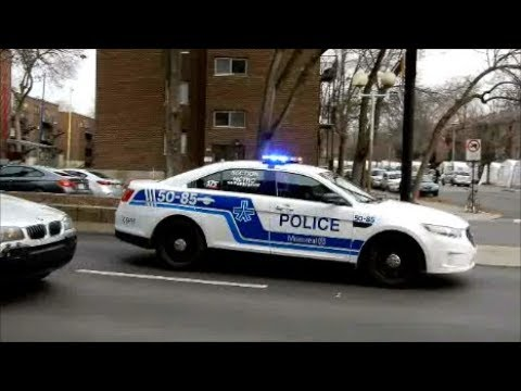 EMERGENCY VEHICLES RESPONDING IN MONTREAL CANADA