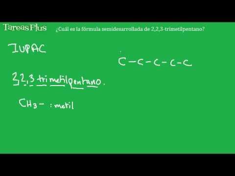 Fórmula 2-2-3- trimetil pentano