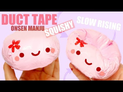 DIY SLOW RISING DUCT TAPE SQUISHY | ONSEN MANJU