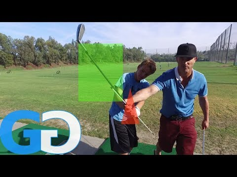 Golf Tips: Freezer backswing drills for left arm position _ Junior Golf Lesson