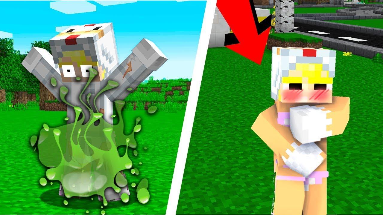 NOOB TROLL TÔ GÀ TV BẰNG SLIME ĂN QUẦN ÁO VÀ CÁI KẾT (Huy Noob Minecraft)