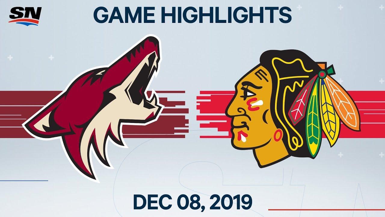 NHL Highlights | Coyotes vs. Blackhawks – Dec. 08, 2019