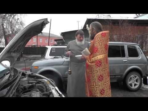Освящение машины-колесницы.  Продукция из Потеряевки. 13.04.2015