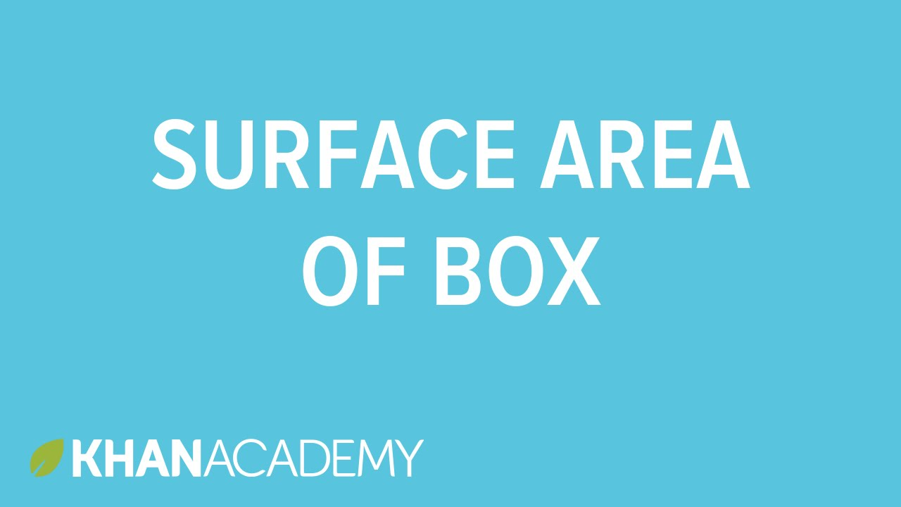 Surface area of a box - YouTube
