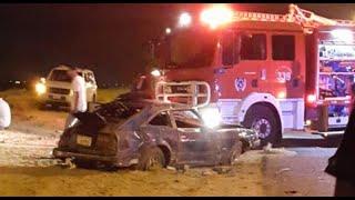 حادث مروع يودى بحياة ٨ أشخاص في كبد بالكويت اليوم