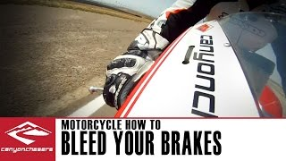 How to bleed brakes on a Motorcycle (with ABS) or after installing stainless steel brake lines