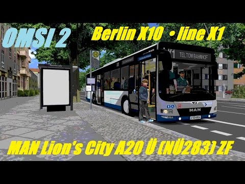 OMSI 2 • Berlin X10 (line X1) • MAN Lion's City A20 Ü (NÜ283) ZF • Part 1