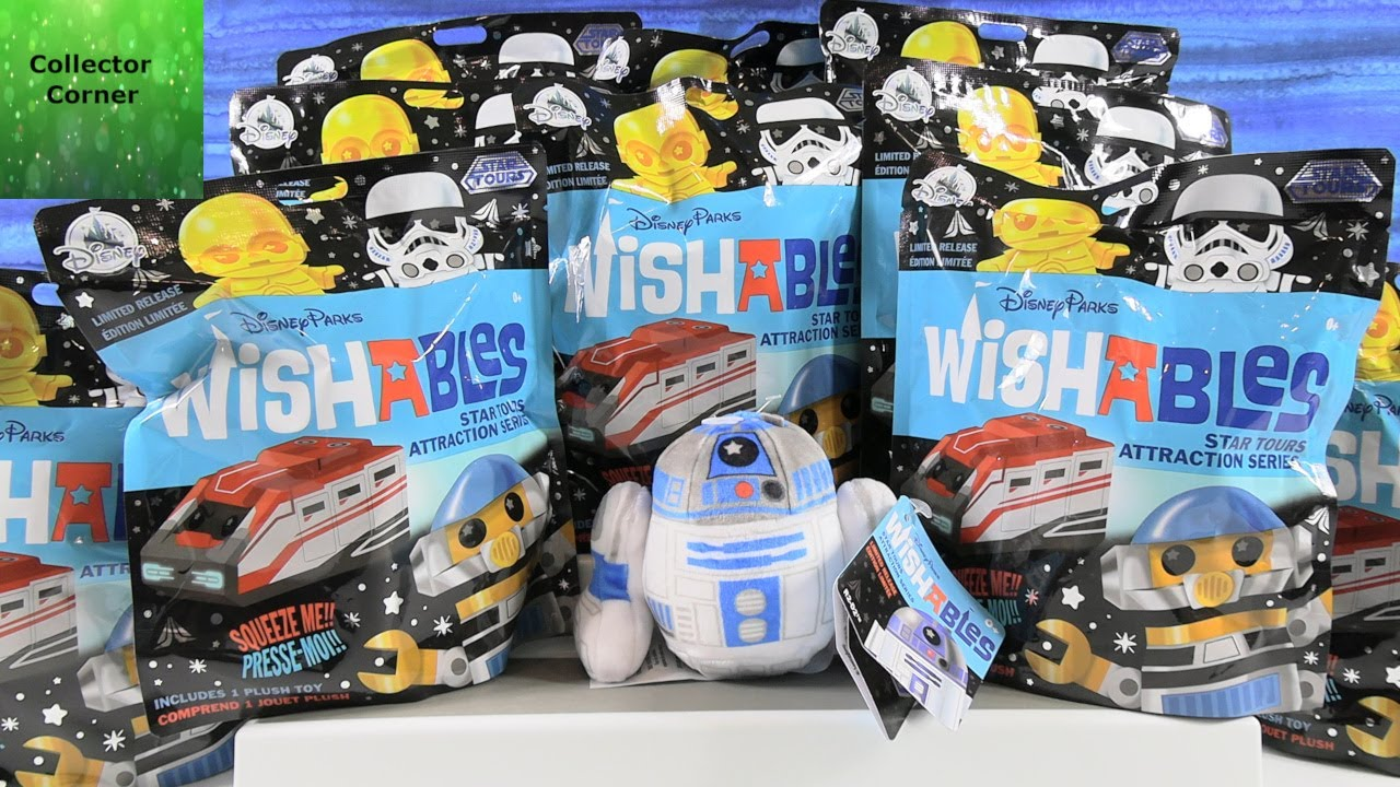 Star Wars Wishables Tours Attraction Series Disney Parks Plush Opening | CollectorCorner