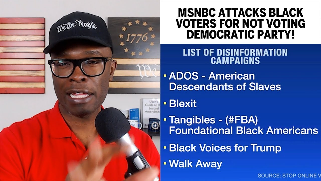 MSNBC Attacks Black Voters For Not Voting Democrat! - ABL