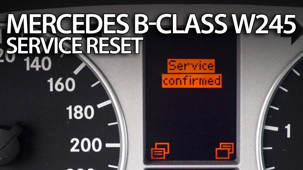 how to reset service reminder in mercedes w245 b-class (inspection