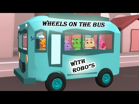 ★2 HOURS★  Wheels On The Bus Go Round And Round || Robo Version || 3D Animation Rhymes