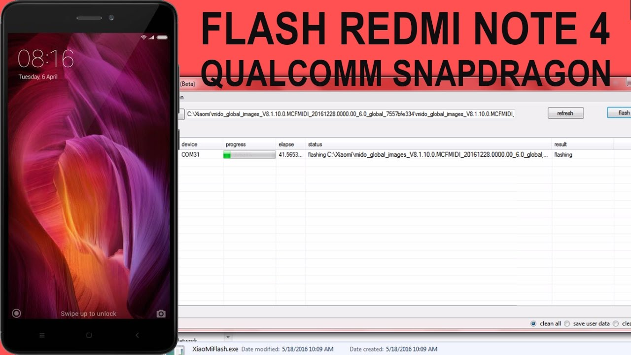 REDMI NOTE 4 SNAPDRAGON FLASHING | UNBRICK/FLASH MIUI ROM REDMI NOTE 4 SD
