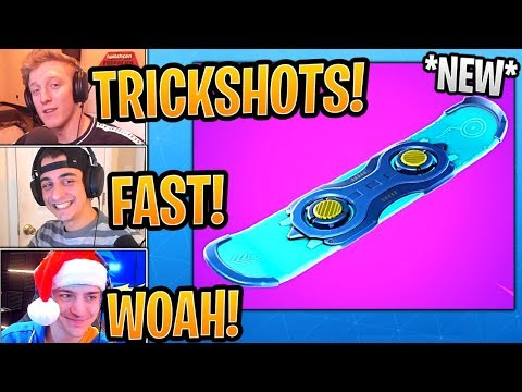 NINJA and Streamers React to *NEW*  Driftboard  Vehicle! - Fortnite Best and Funny Moments