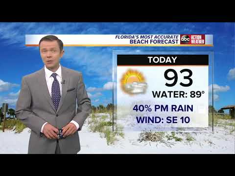 Florida's Most Accurate Forecast with Greg Dee on Tuesday, September 25, 2018